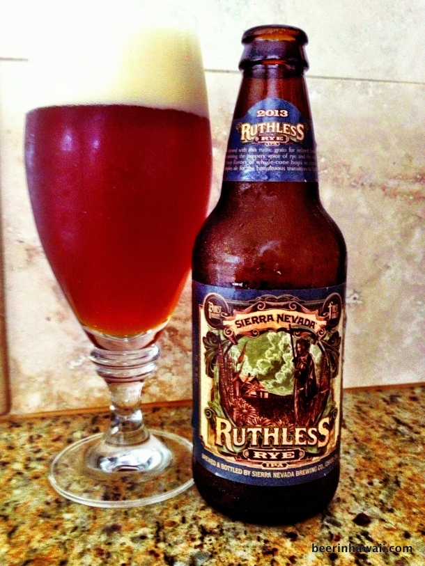 Sierra Nevada Ruthless Rye IPA in Hawaii
