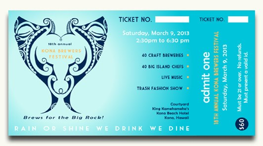 Kona Brewers Festival 2013 Ticket