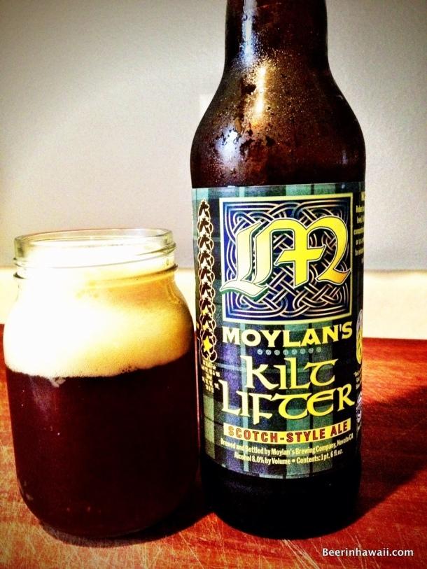 Moylan's Kilt Lifter Beer in Hawaii