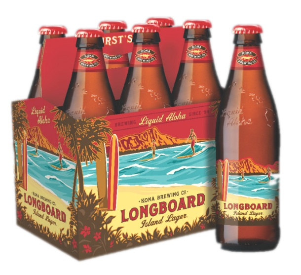 Kona Brewing Company redesigns bottles Longboard Lager
