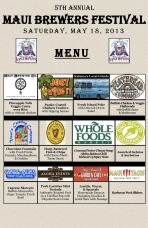 Maui Brewers Festival 2013 Food Vendors Menu
