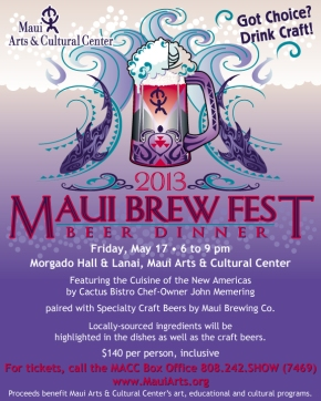 2013 Maui Brewers Festival Kicks Off With Friday Night Beer Dinner