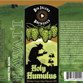Big Island Brewhaus to Release Holy Humulus IPA in Bottles