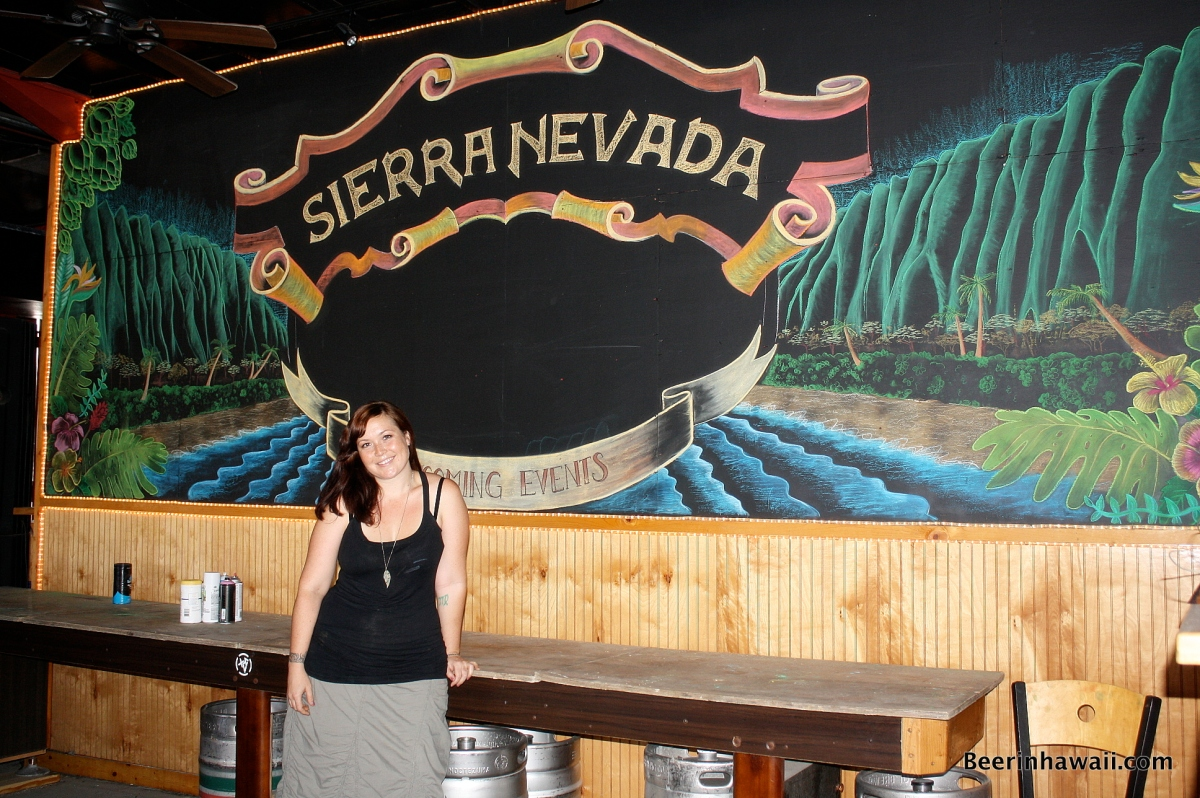 Beer Art - Honolulu's Chalkboard Queen Erin Mauro
