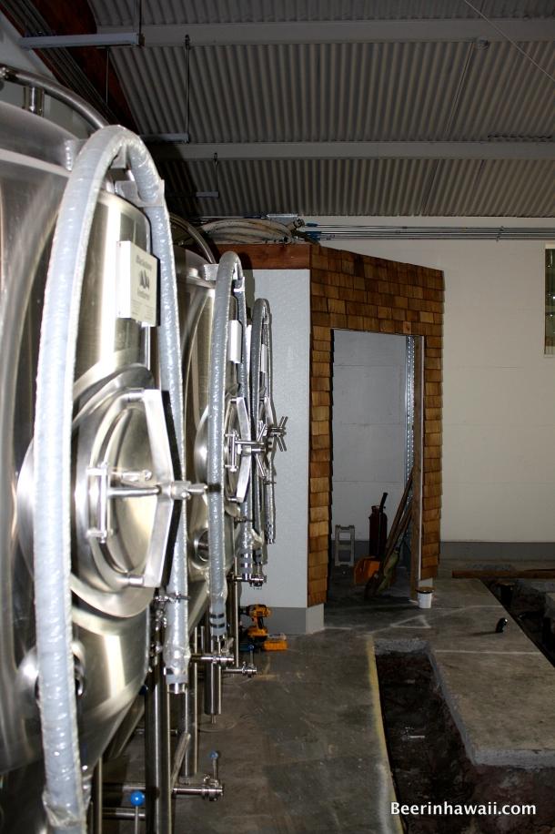 Honolulu Beerworks Grain room
