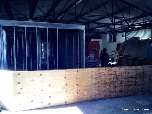 Honolulu Beerworks Bar in progress