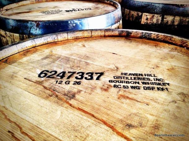 Honolulu Beerworks Heaven Hill borboun barrels