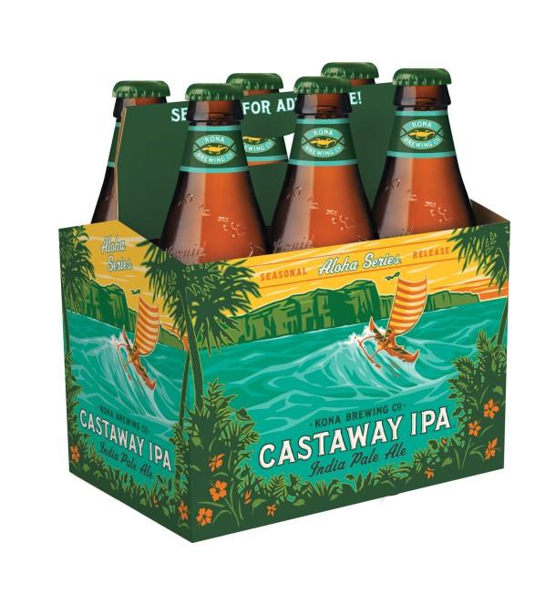 Kona Brewing Company Castaway IPA bottles