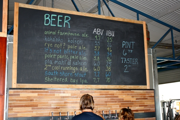 Honolulu Beerworks Beer board