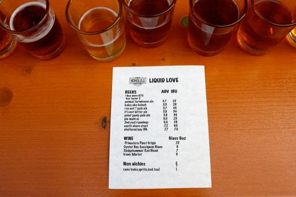 Honolulu Beerworks beer list