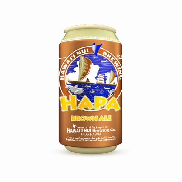 Hawaii Nui Brewing Hapa Brown Ale Can