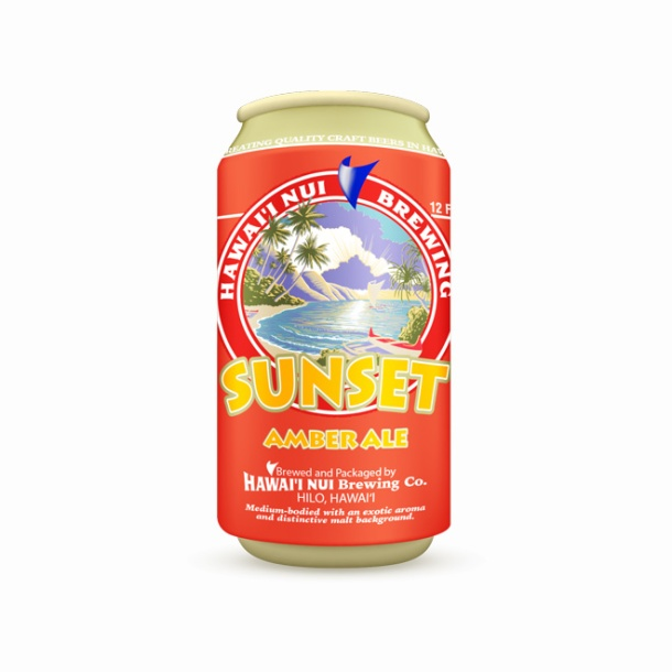 Hawaii Nui Brewing Sunset Amber Ale Can