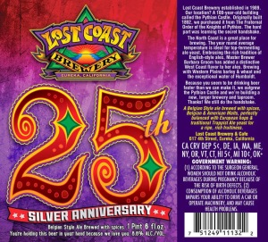 Lost Coast 25th Silver Anniversary Ale Belgian Strong Ale