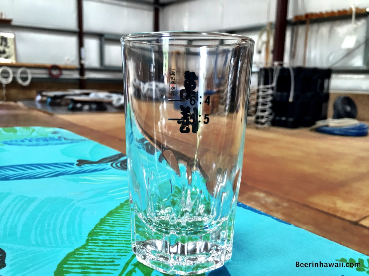 Shochu glass Hawaiian Shochu Company