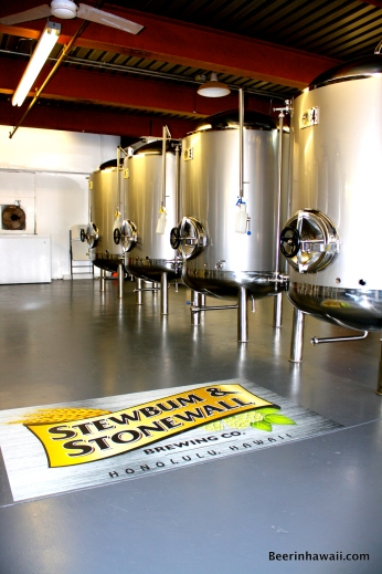 Stewbum & Stonewall Brewing Company Hawaii tanks