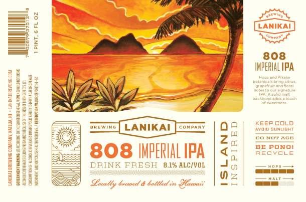 lanikai-brewing-808-imperial-ipa-label