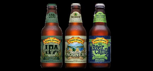 Sierra Nevada Hop Hunter IPA Nooner Pilsner Beer Camp Hoppy Lager