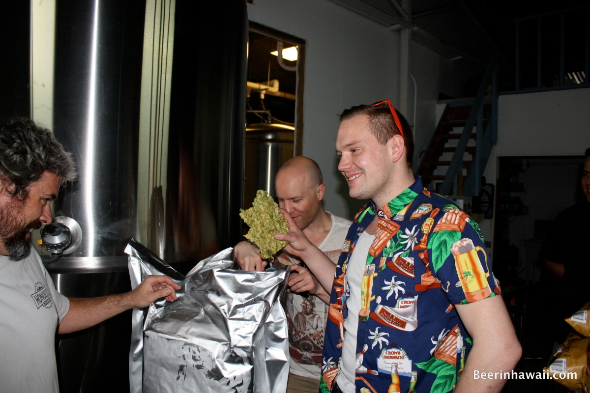 Brian Strumke Soren Parks Wagner Honolulu Beerworks Hops