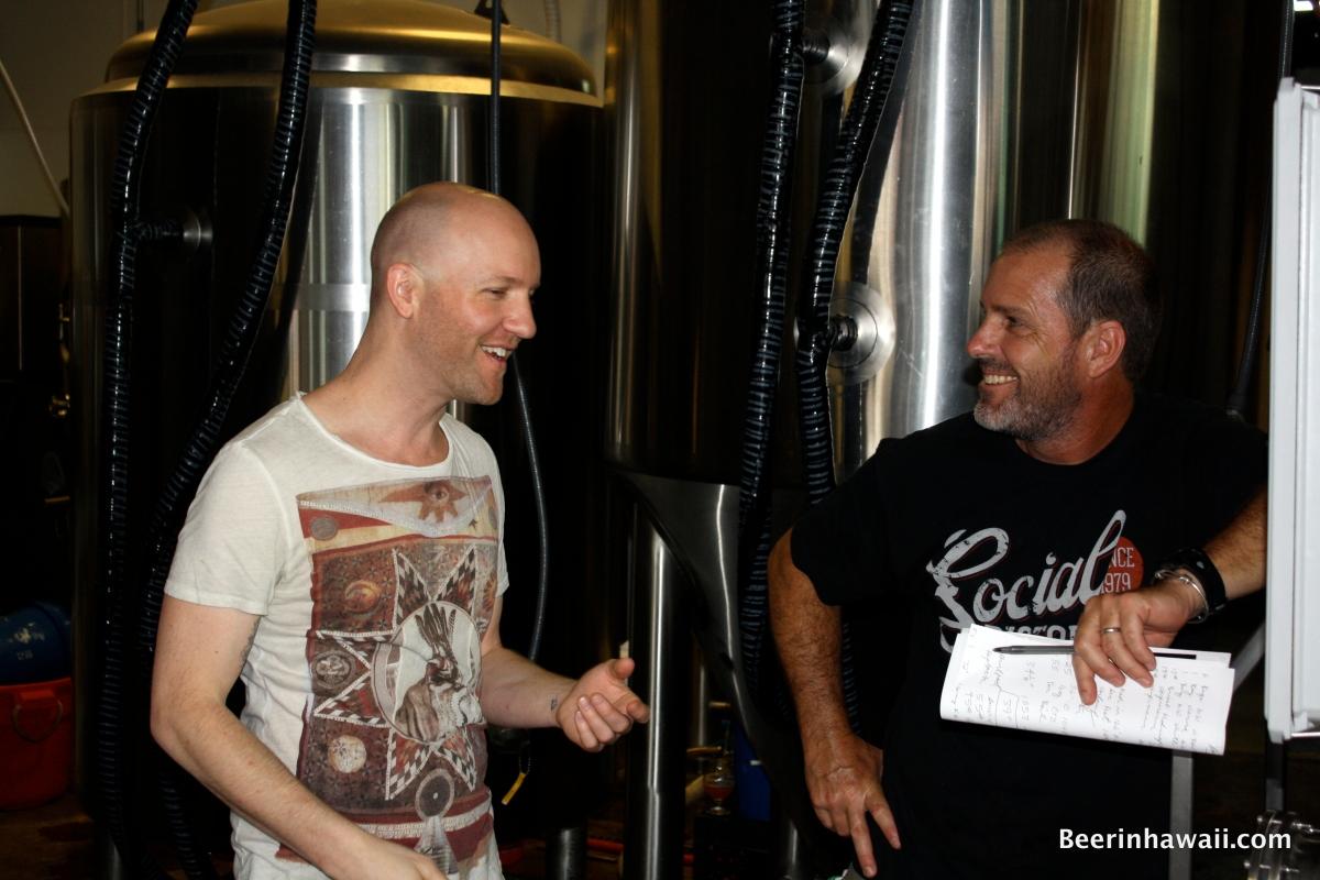 Brian Stumke Dave Campbell Honolulu Beerworks