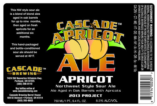 Cascade Brewing Apricot Hawaii