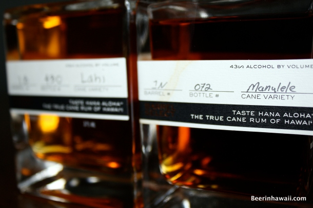 Ko Hana Rum hand labelled