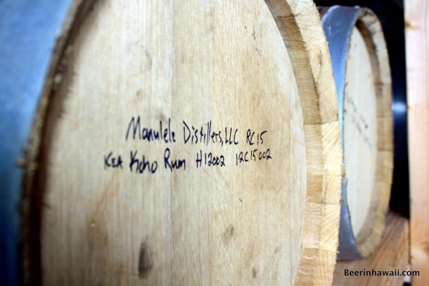 Manulele Distillers Ko Hana Rum barrels