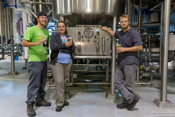 Maui Brewing Company Darren Moser and staff