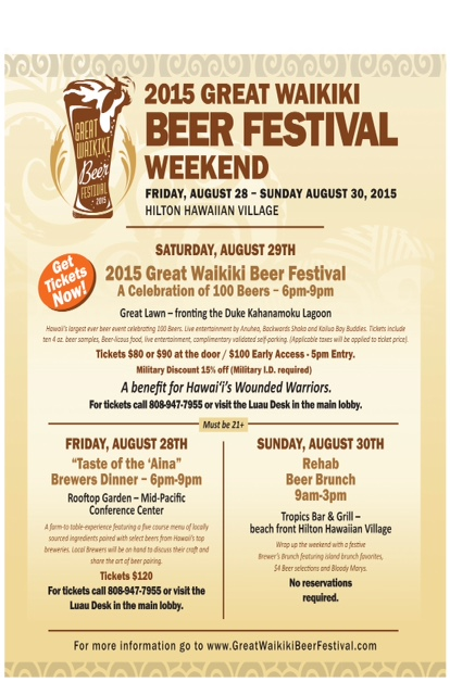 Great Waikiki Beer Festival Events 2015