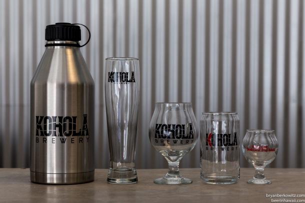 Kohola Brewery Maui Glassware