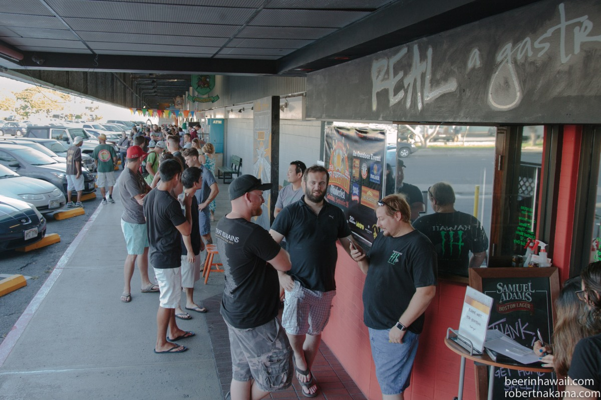 Zwanze Day 2015 Honolulu Real A Gastropub tickets early line photo board the line