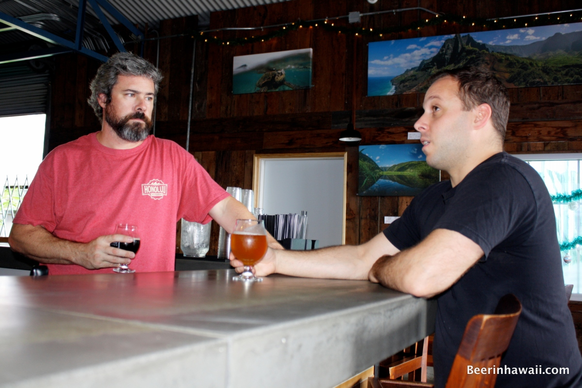 Geoff Seideman and Ben Edmunds at Honolulu Beerworks