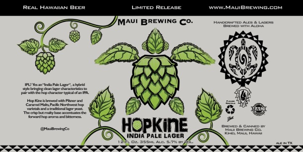 Hop Kine Maui Brewing Label