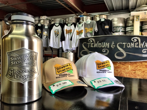 stewbum and stonewall brewing tasting room hats