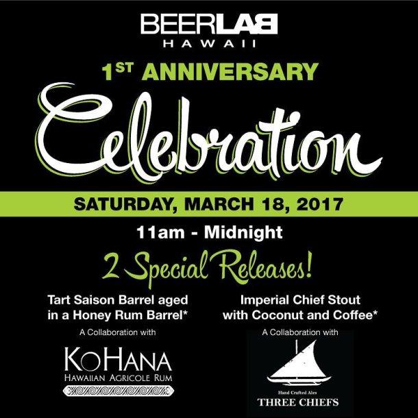 Beer Lab HI 1st Anniversary