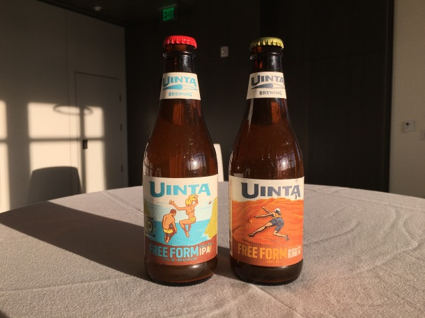 Bottles-of-Uinta-Brewing-Free-Form-Gluten-Free-IPA-and-Belgian-Style-Blonde-Ale.