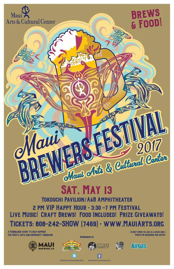 2017 Maui Brewers Festival Poster